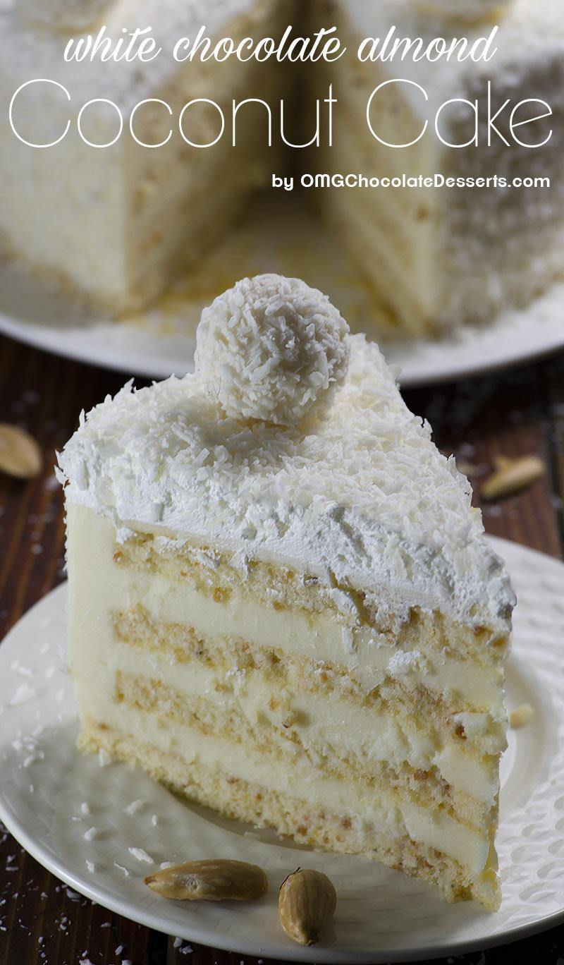 Almond coconut cake is delicious blend of almond, coconut, white ...