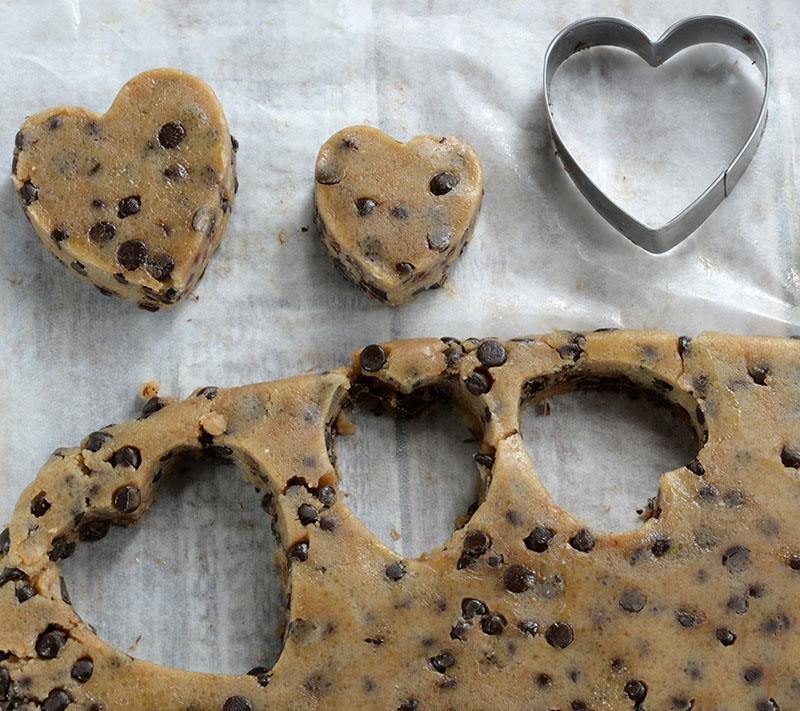 Cookie Dough Valentines Hearts with cutter