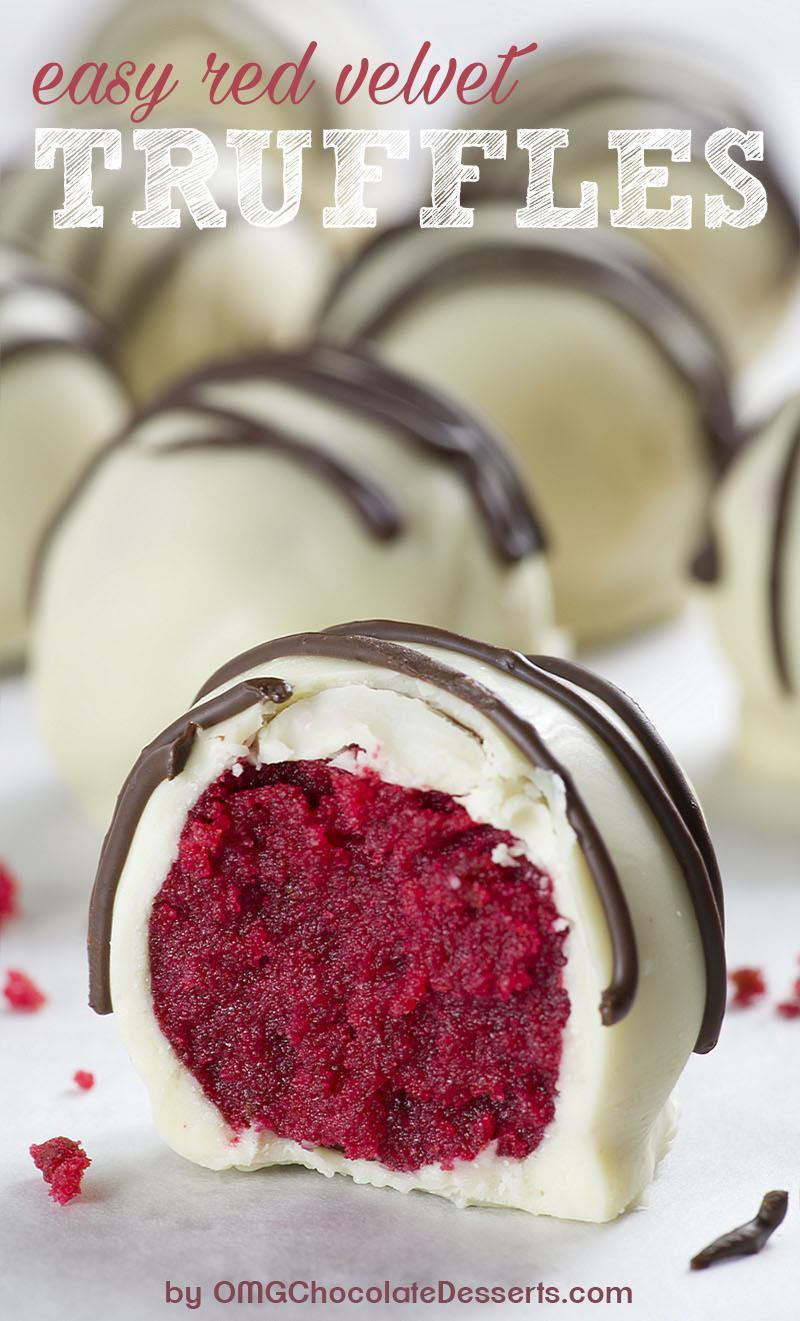 Red Velvet Truffles A Valentine S Day Dessert Made With