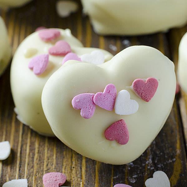 Oreo Truffles Valentine Hearts