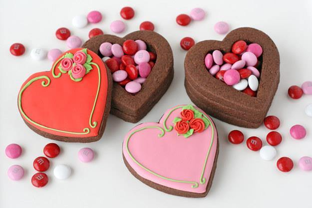 Valentine Heart Cookie Boxes