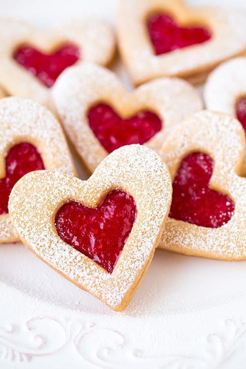Heart Linzer Cookies