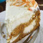 Slice of carrot cake cheesecake