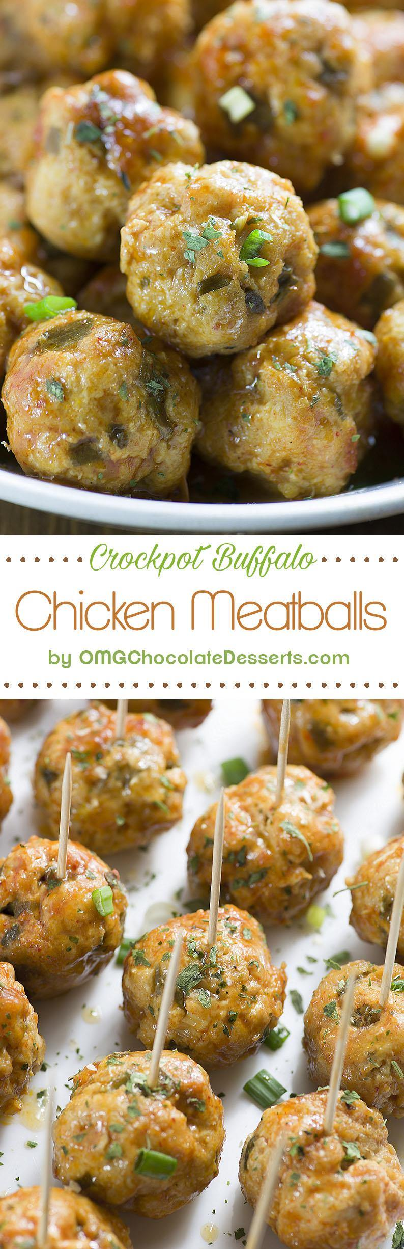 Buffalo Chicken Meatballs - fun and easy recipe for the perfect bite sized appetizer, or you can add some side dish and you'll have a healthy dinner for your family.