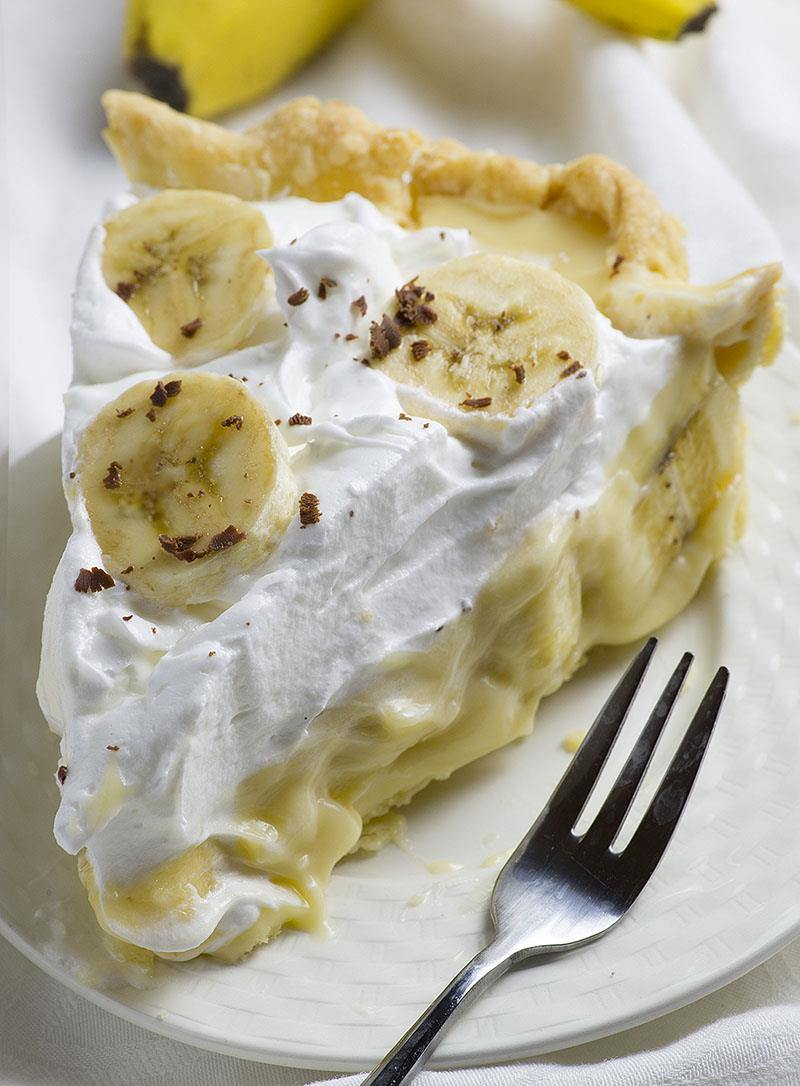 Old Fashioned Banana Cream Pie is from scratch homemade pie recipe like your grandmas used to make. A tender, flaky crust piled high with bananas and creamy vanilla pudding. DELICIOUS!!!