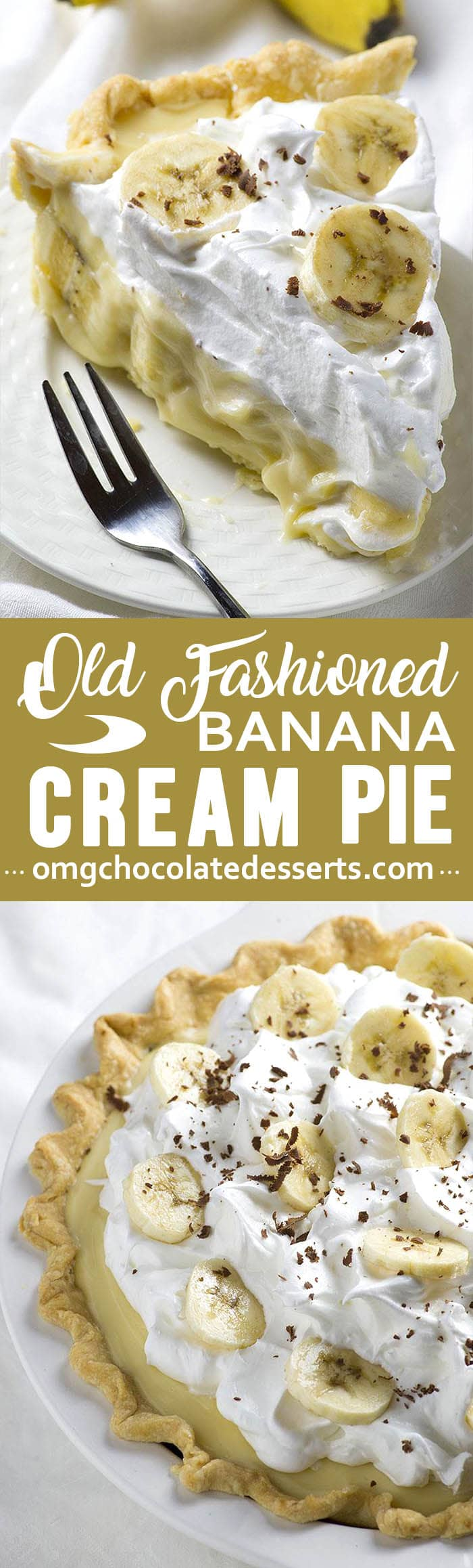 This homemade banana cream pie is phenomenal. The crust is buttery, the filling is luscious, and the bananas are beautifully tender.