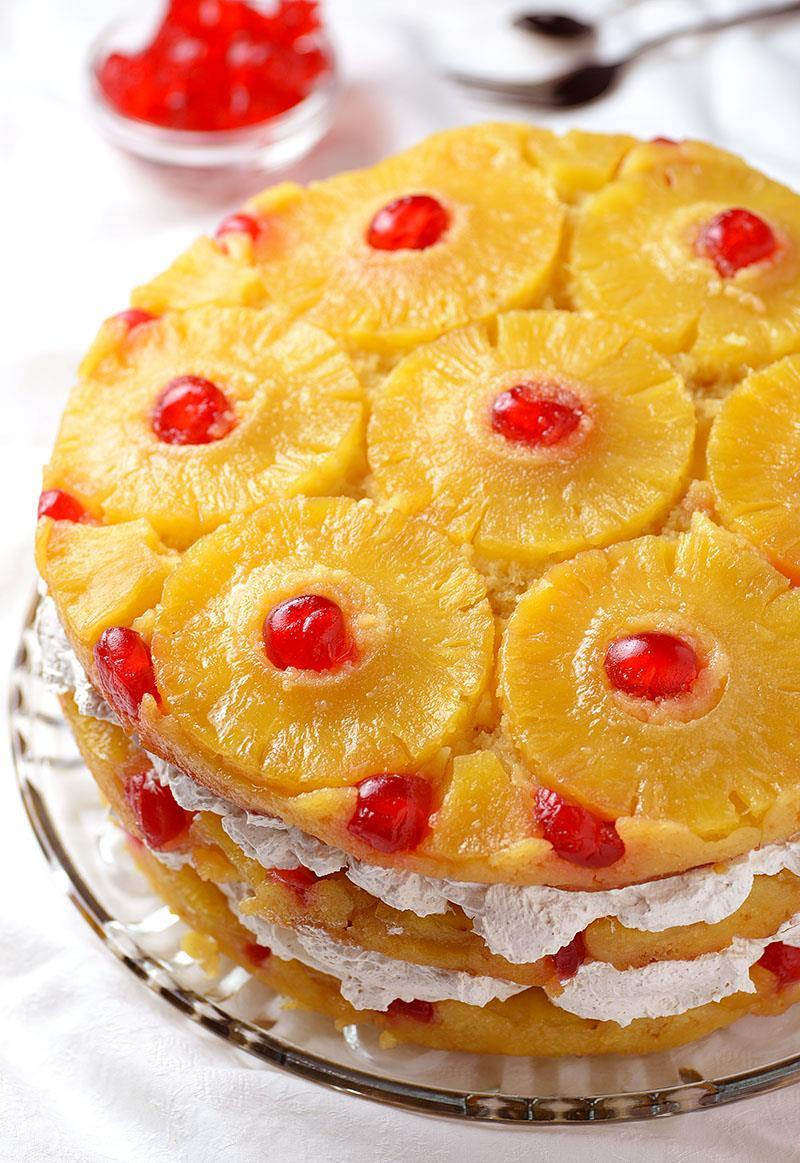 Pineapple Upside Down Cake - Triple the glaze and triple the pineapple ...