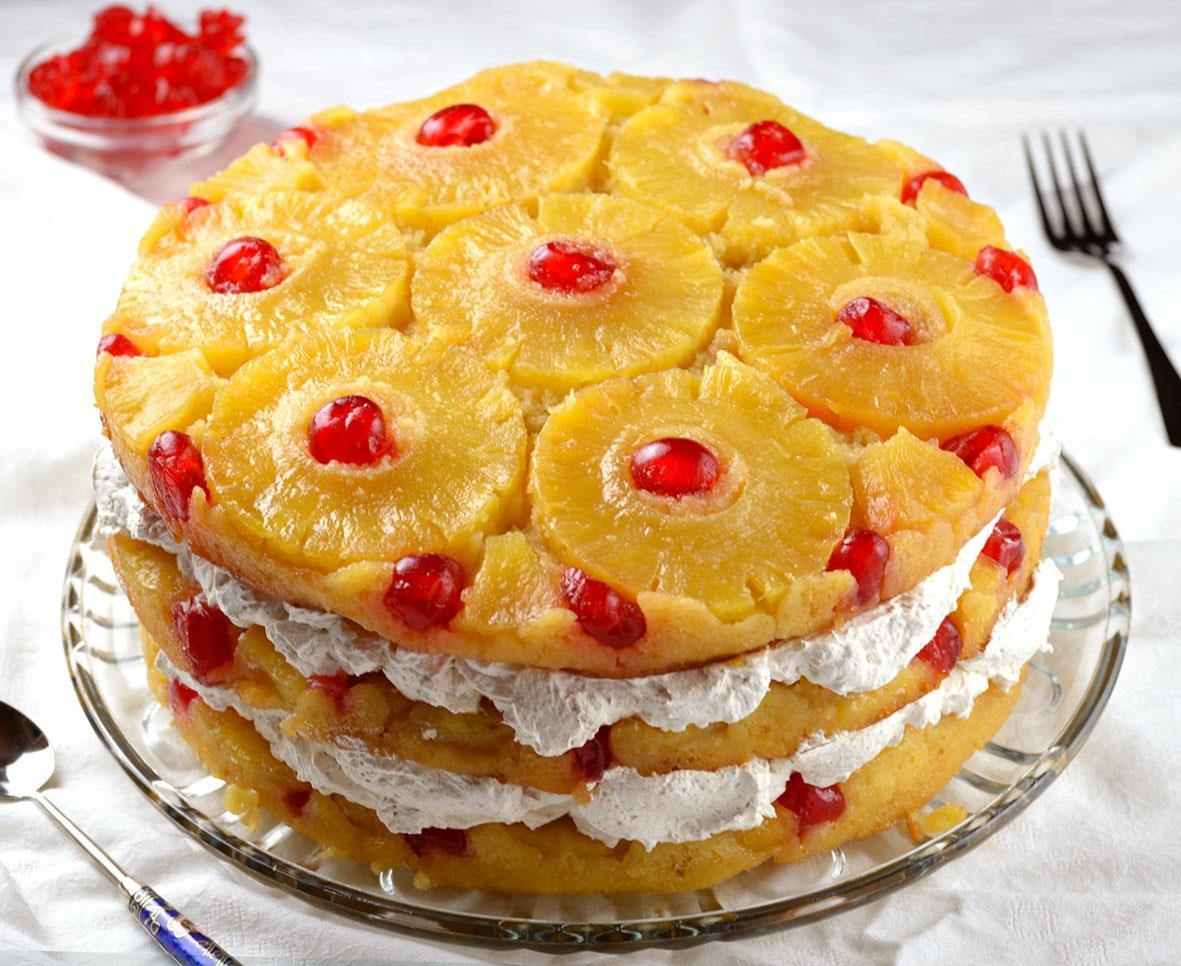 Is There A  Layer Pinapple Upside Cake