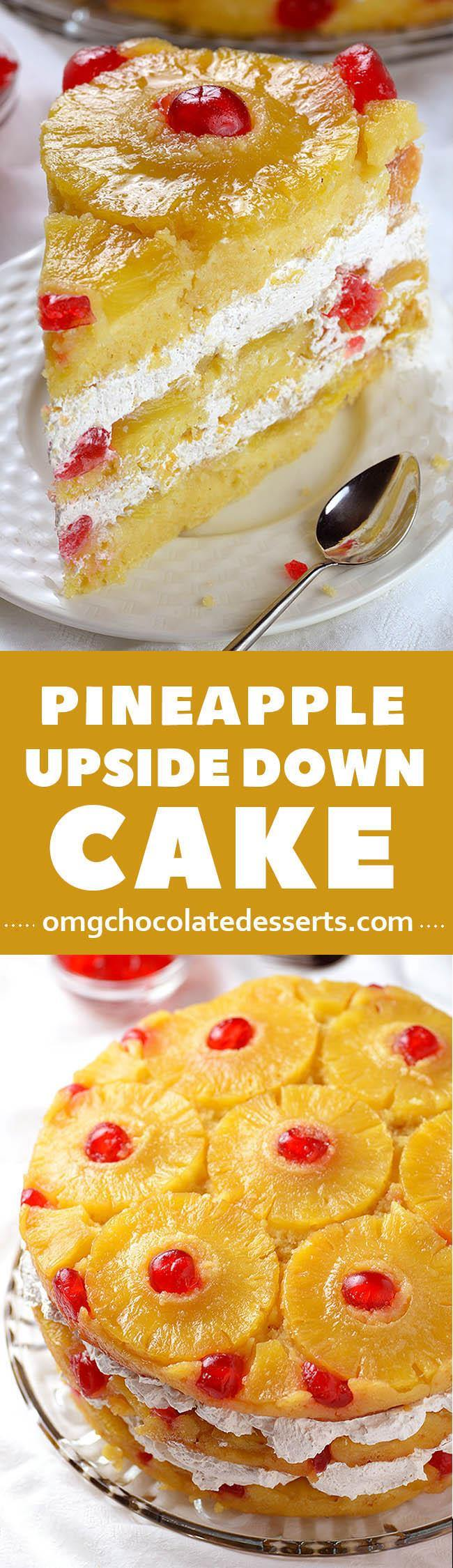 The Best Pineapple Upside-Down Cake – So soft, moist, and really is The Best!! A cheery, happy cake that's sure to put a smile on anyone's face!