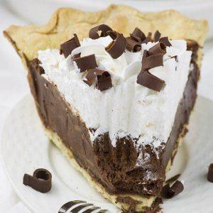 Chocolate French Silk Pie Slice