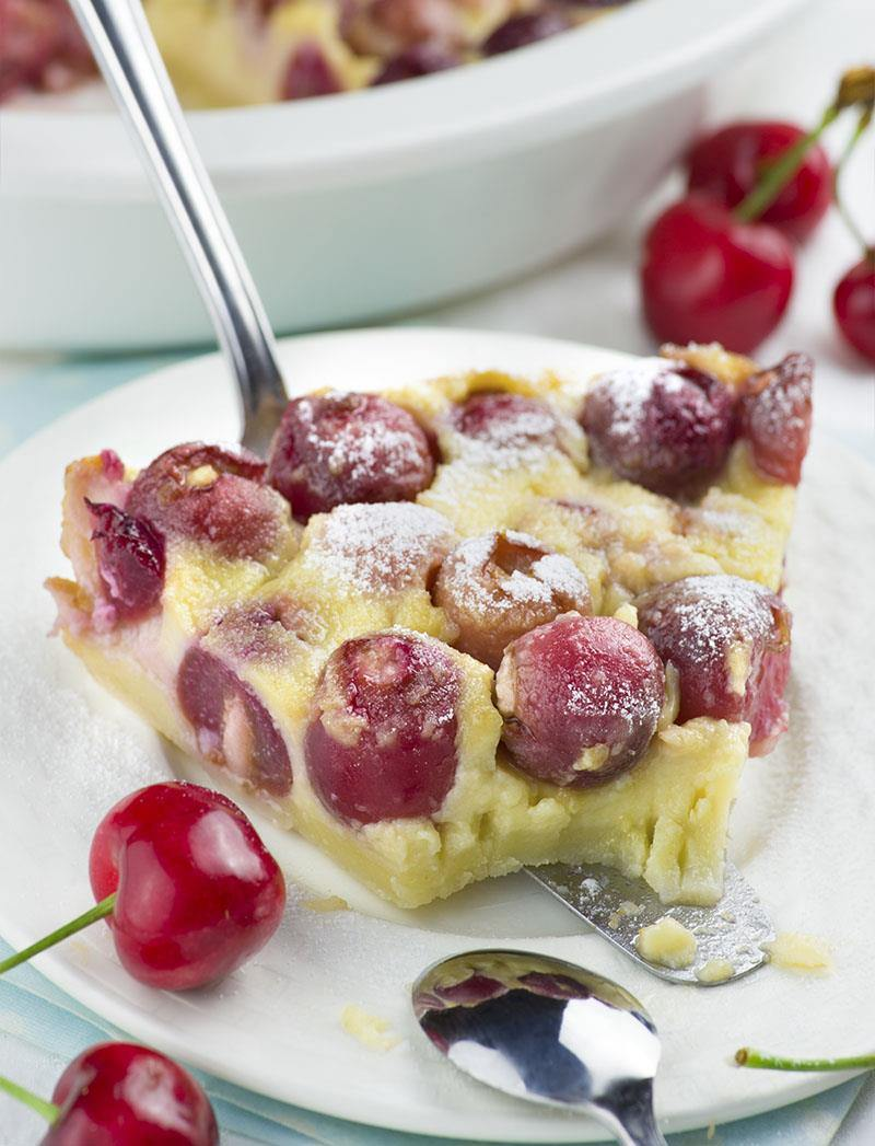 Fresh Cherry Clafoutis Recipe — Dishmaps