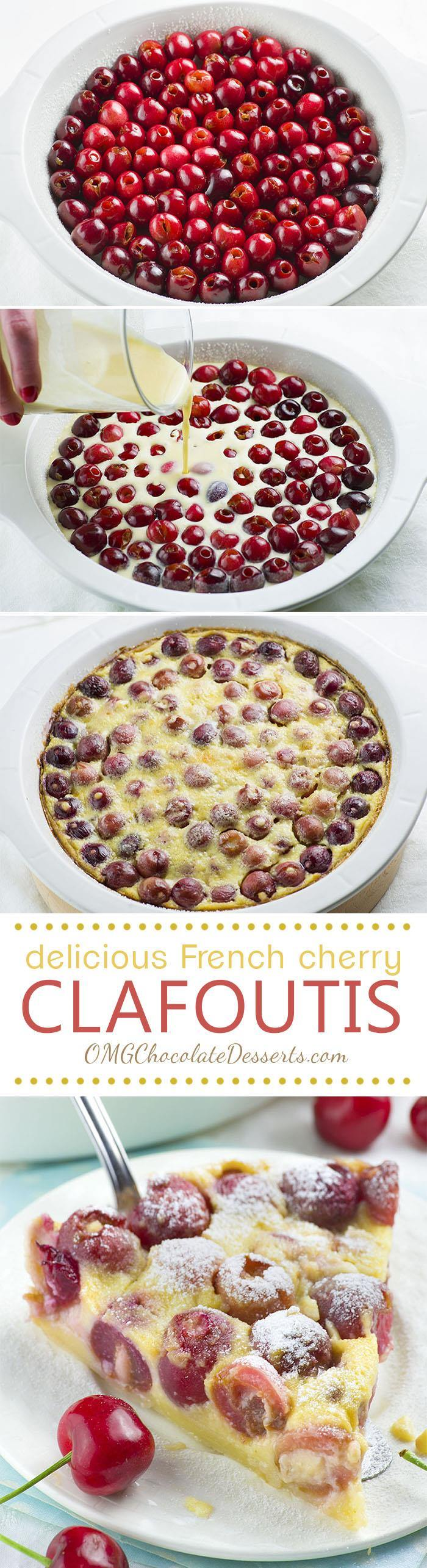 Cherry Clafoutis | Chocolate Dessert Recipes – OMG Chocolate ...