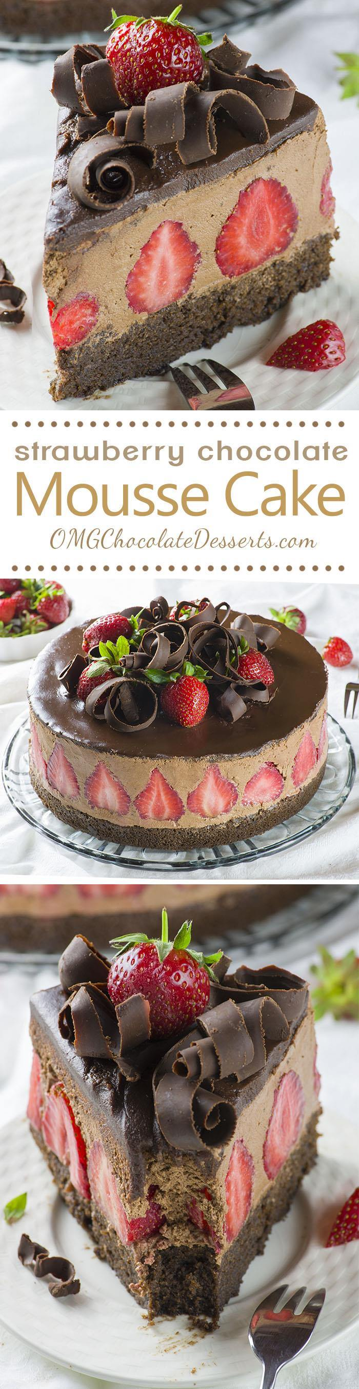 Take chocolate dipped strawberries to the next level with this dreamy Strawberry Chocolate  Cake! Rich chocolate cake with a strawberry ...