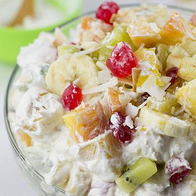 Tropical Cheesecake Fruit Salad
