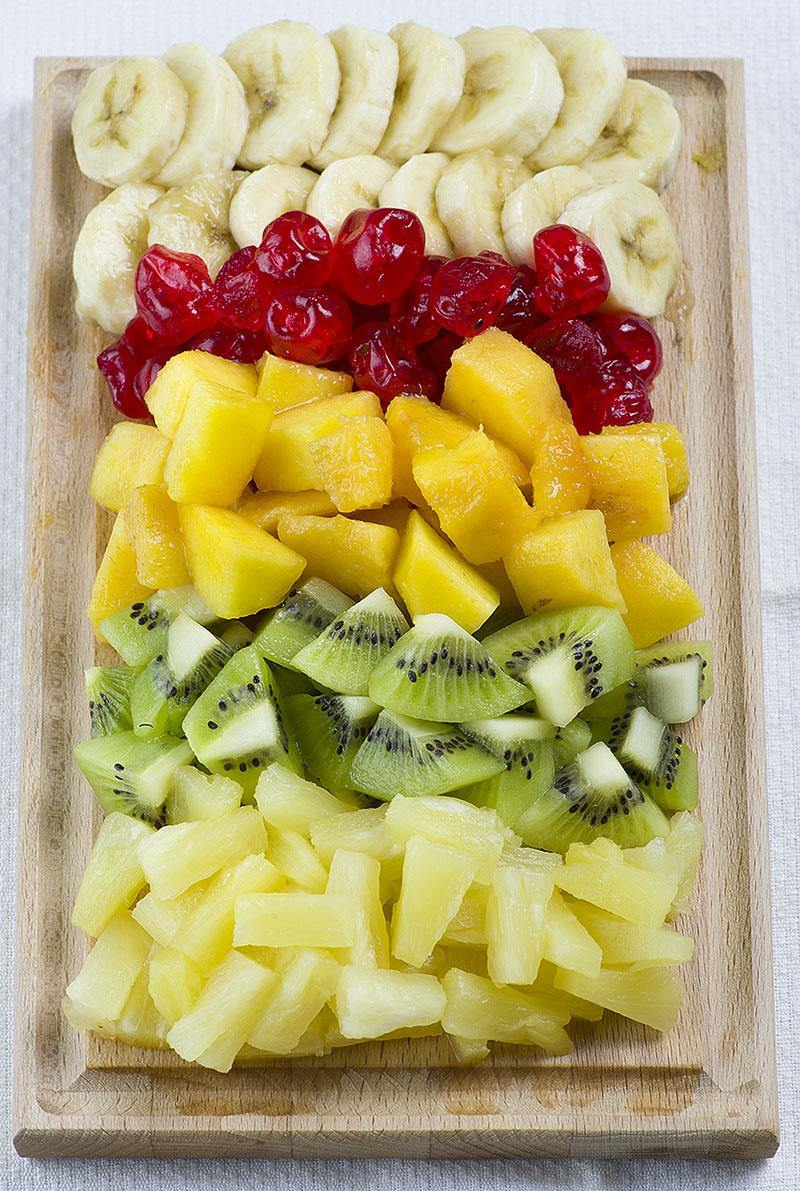 Tropical Cheesecake Fruit Salad - Refreshing cheesecake salad with tropical fruit will make you feel really special this summer.