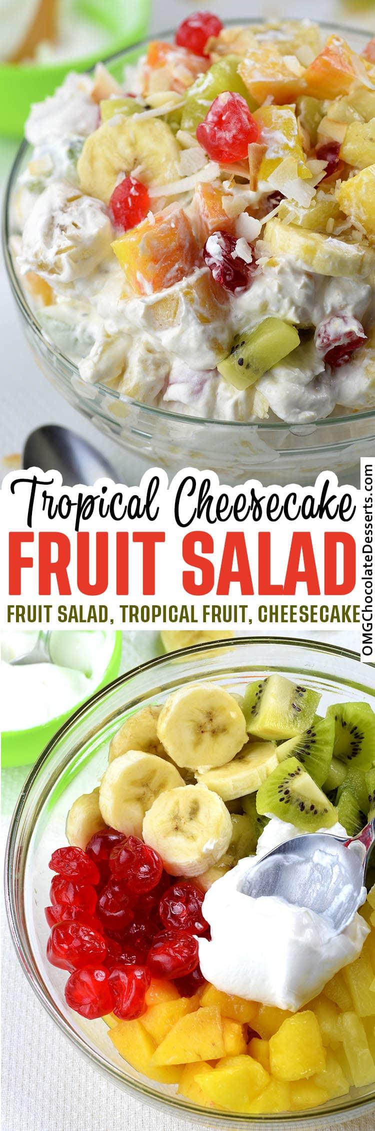 Tropical Cheesecake Salad