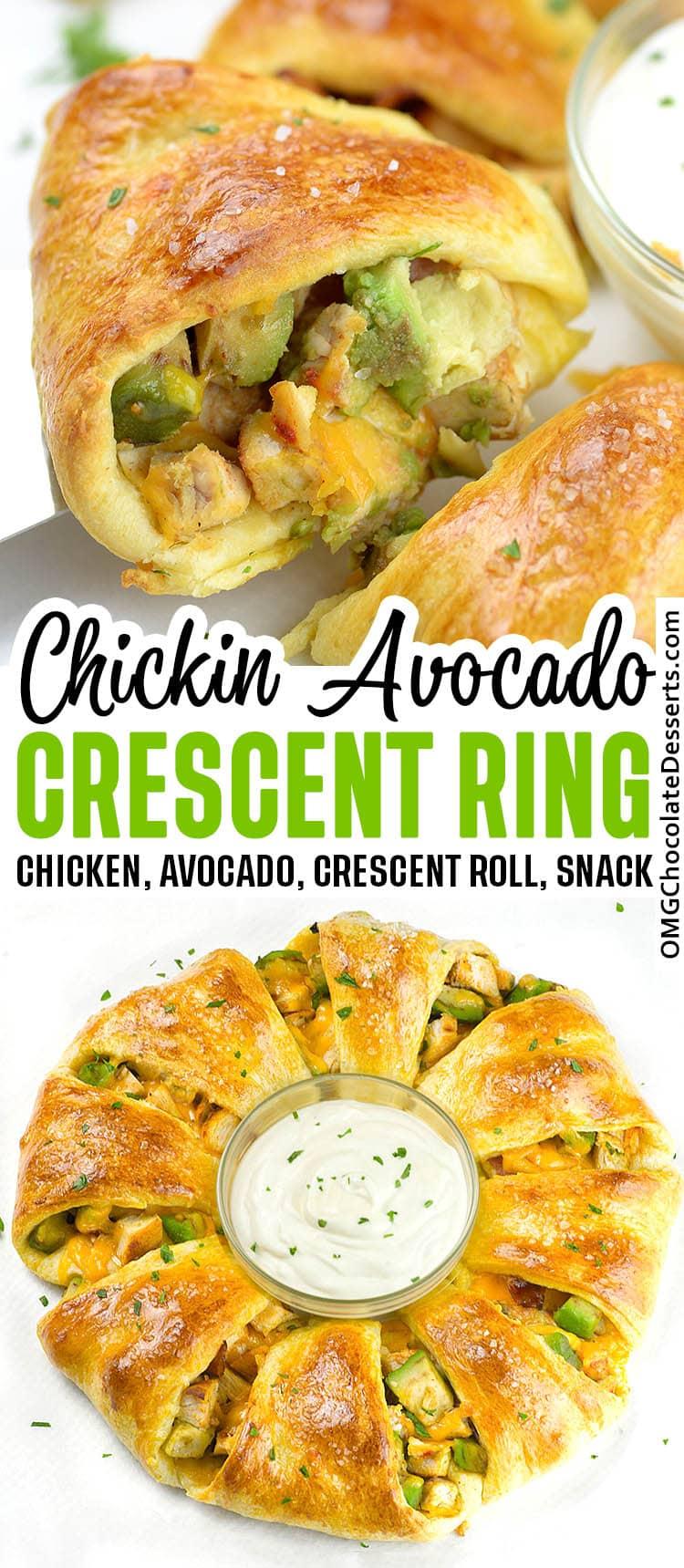 Chicken-Avocado Crescent Ring