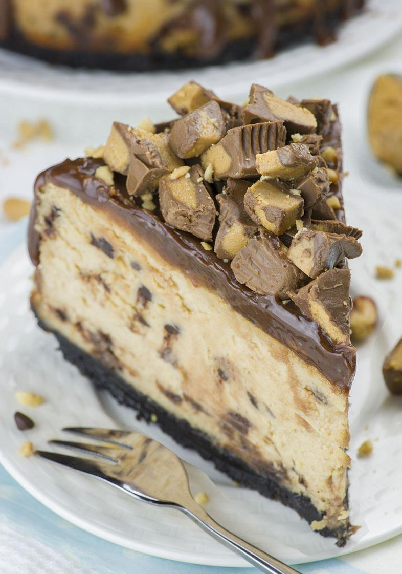 Chocolate Peanut Butter Cheesecake An Easy Reeses Cup