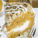 Image of pumpkin coffee cake slice