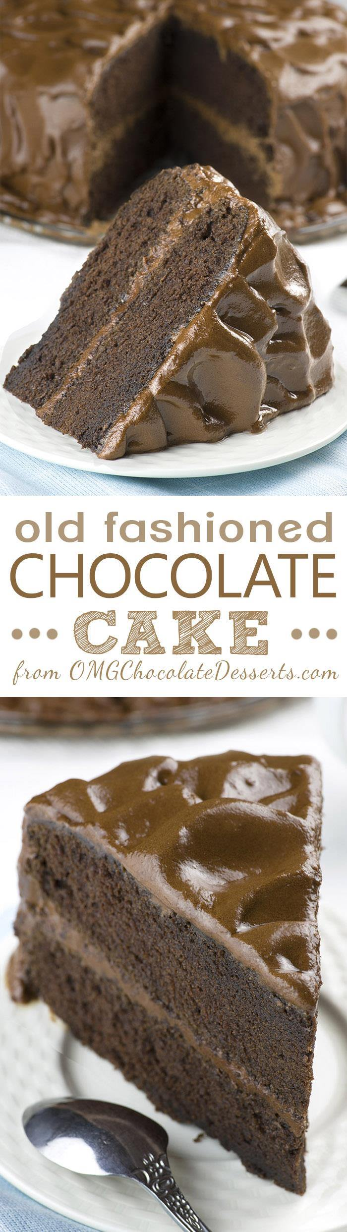 Old fashioned Chocolate Cake is dangerously delicious, rich and decadent cake packed with real chocolate flavor. It's perfect birthday cake because chocolate cake is just about everyone's favorite!!!