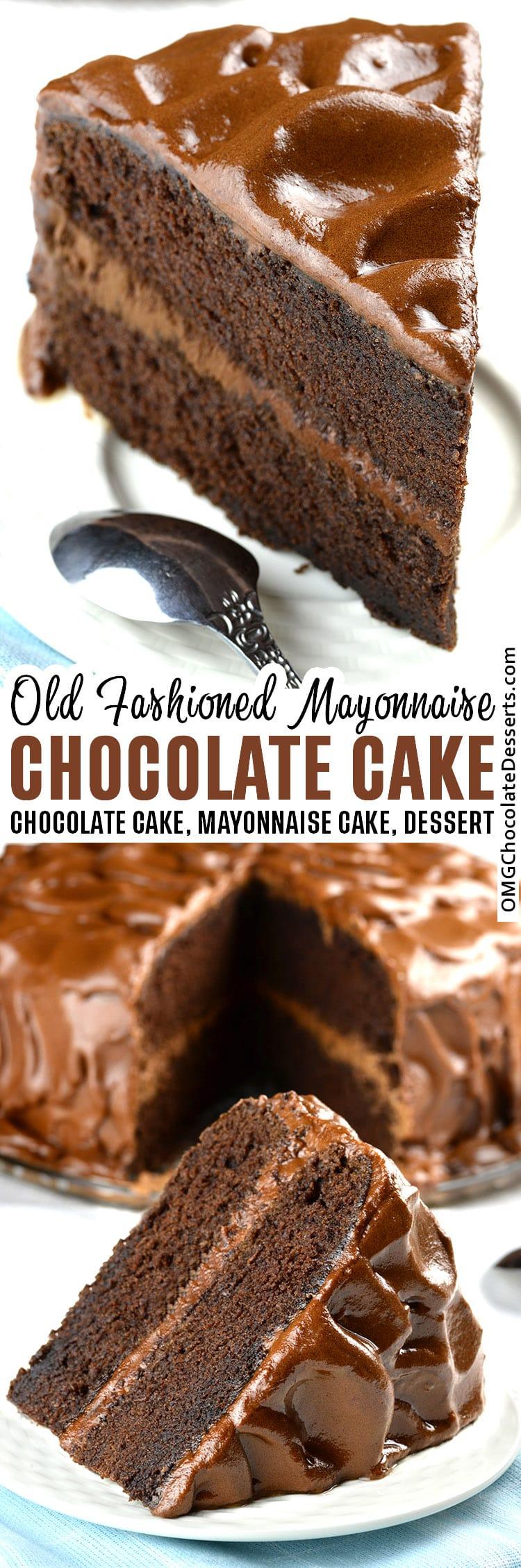 Old Fashioned Chocolate Mayonnaise Cake