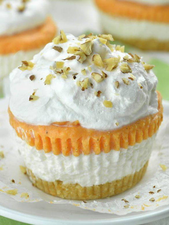 Pumpkin Lasagna Cupcakes on a plate.