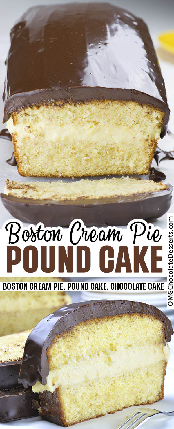 Boston cream pie pound cake