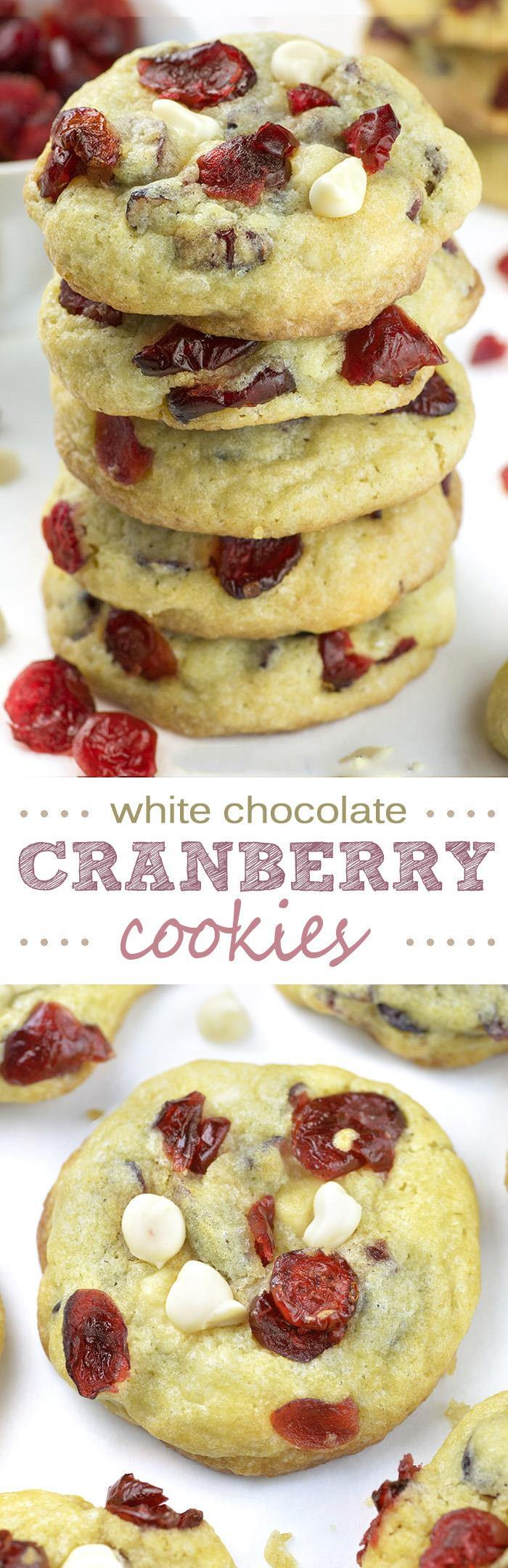 White Chocolate Cranberry Cookies | OMG Chocolate Desserts