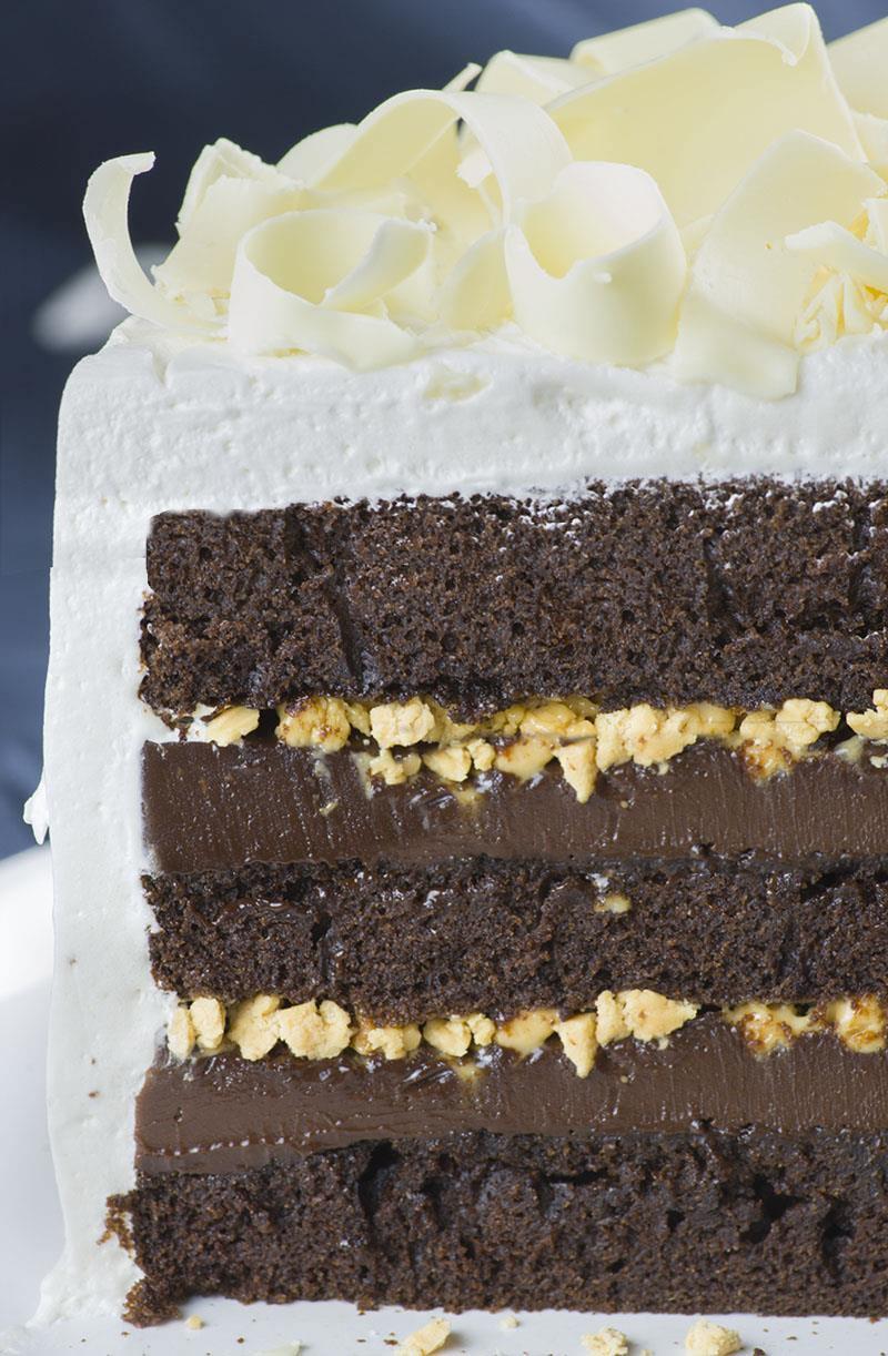 Sour Cream Toffee Fudge Cake