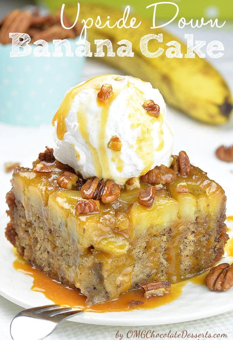 This delicious Upside Down Banana Cake has rich flavor thanks to mashed bananas in the batter and a layer of banana slices in caramel sauce on top.It could be great breakfast or snack, too.