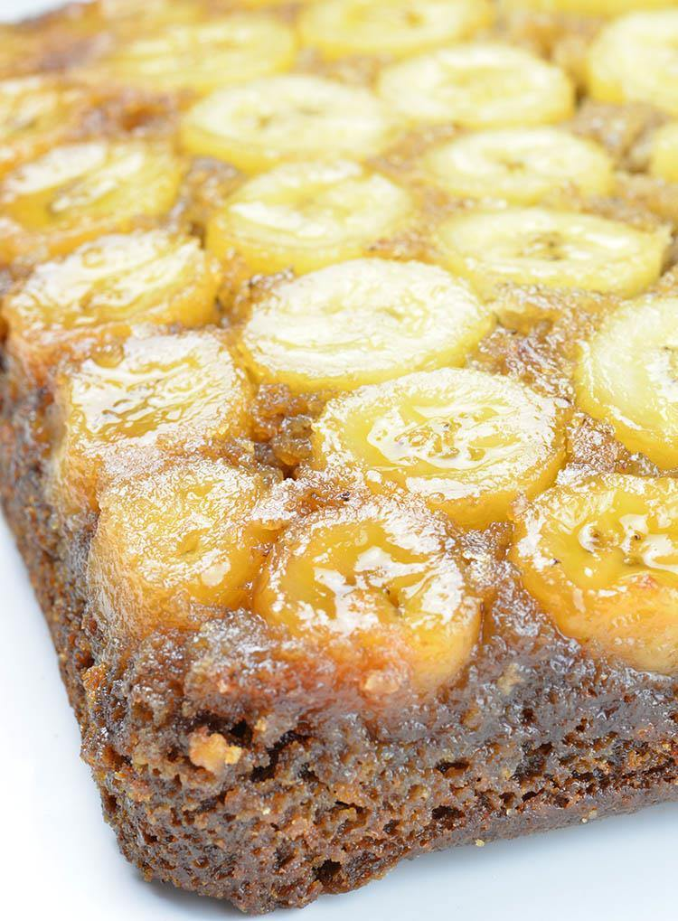 Banana Upside Down Cake baked