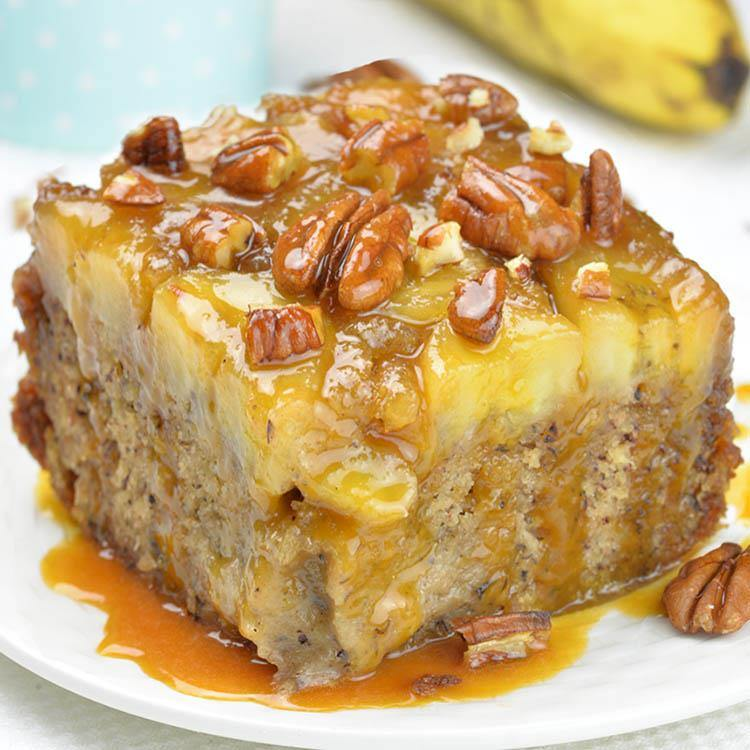 Healthy Pineapple Upside Down Cake