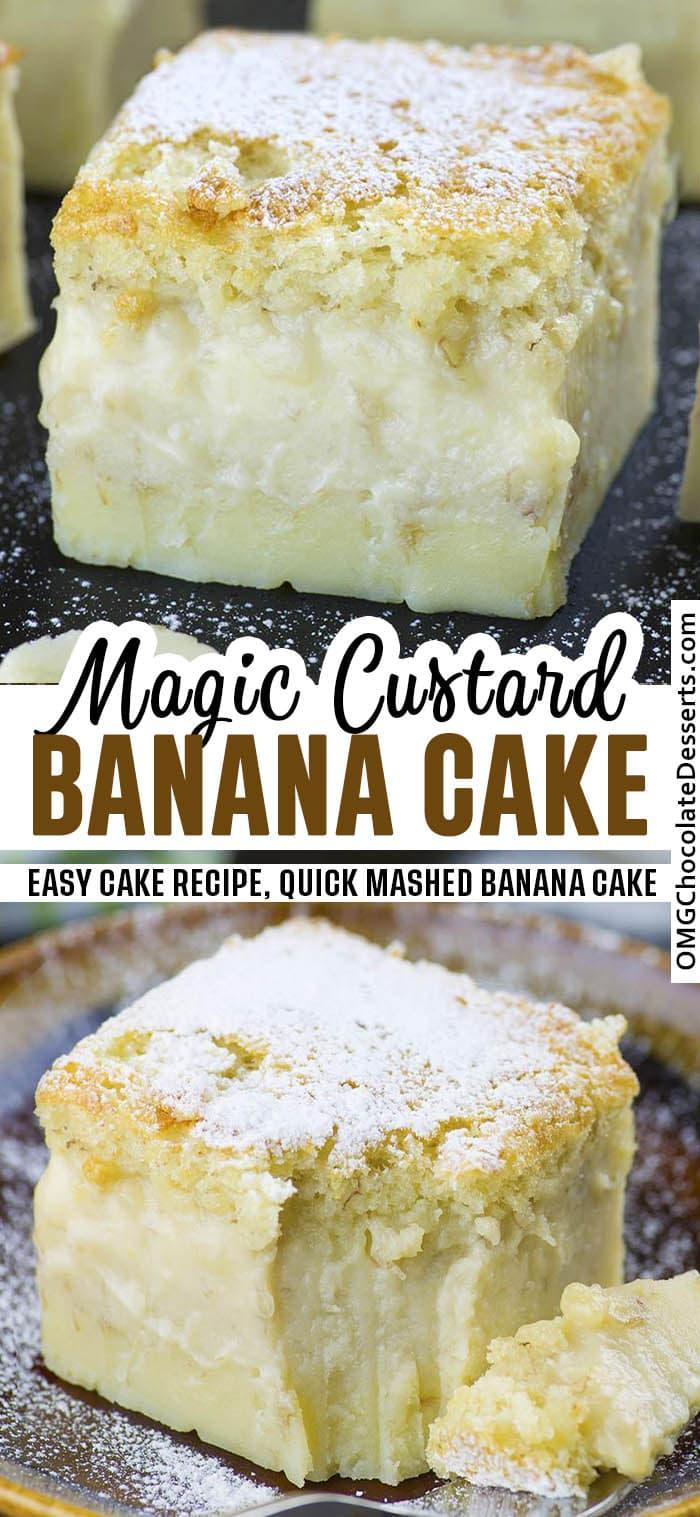 Two Banana Magic Cake on one image