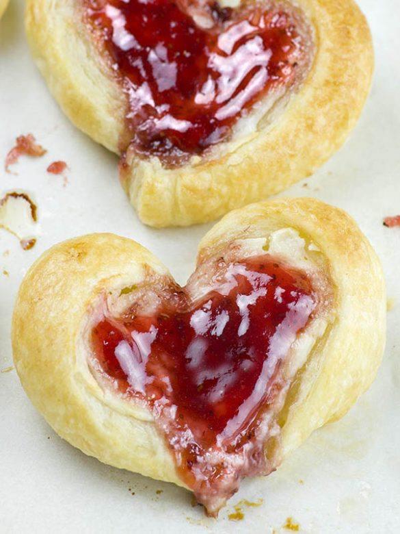 Heart shaped Easy Cream Cheese Danish