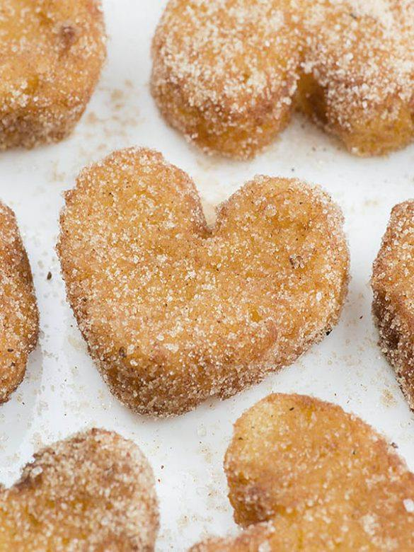 Heart shaped French Tost Churro Bites