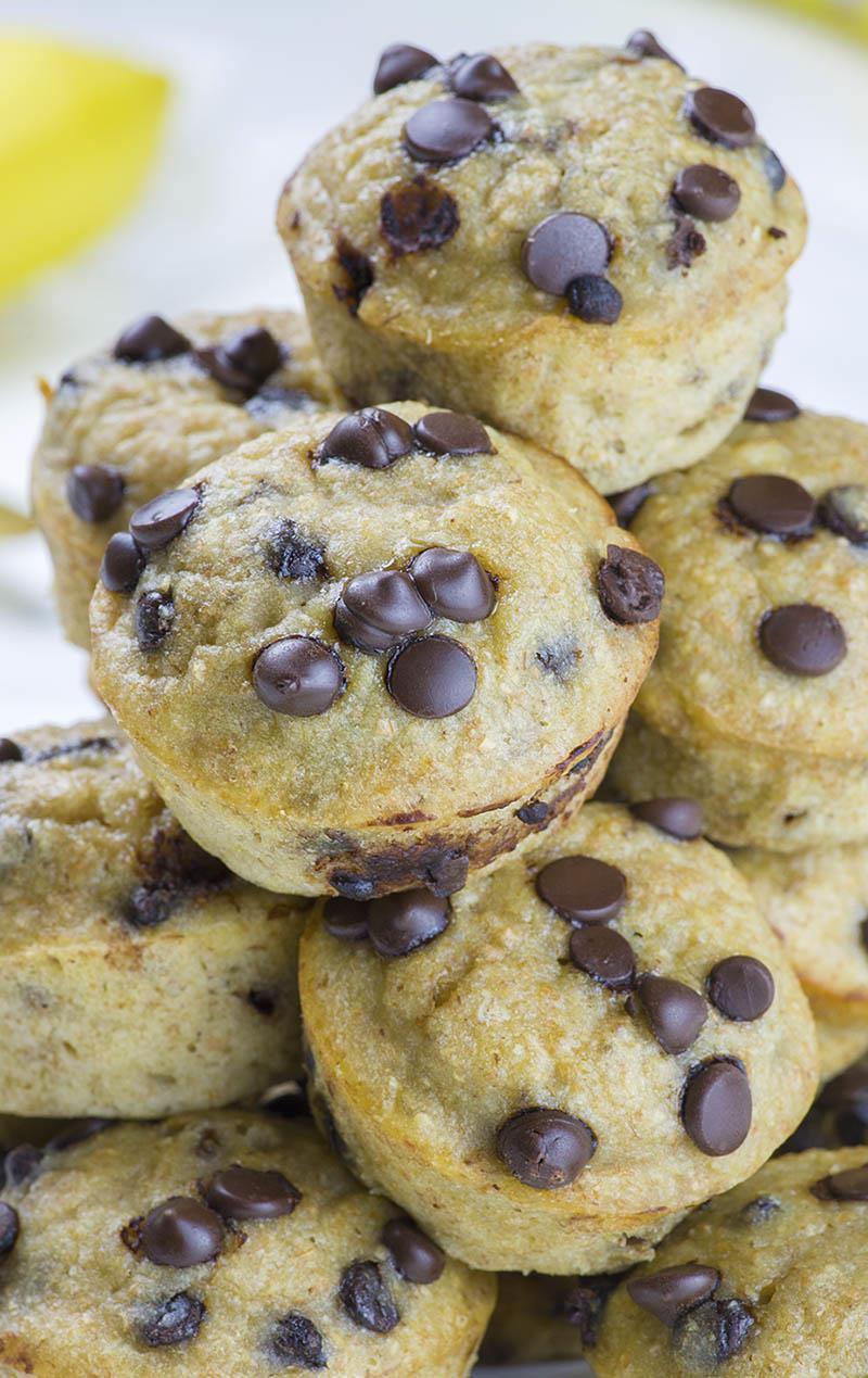 Skinny Chocolate Chip Banana Muffins recipe