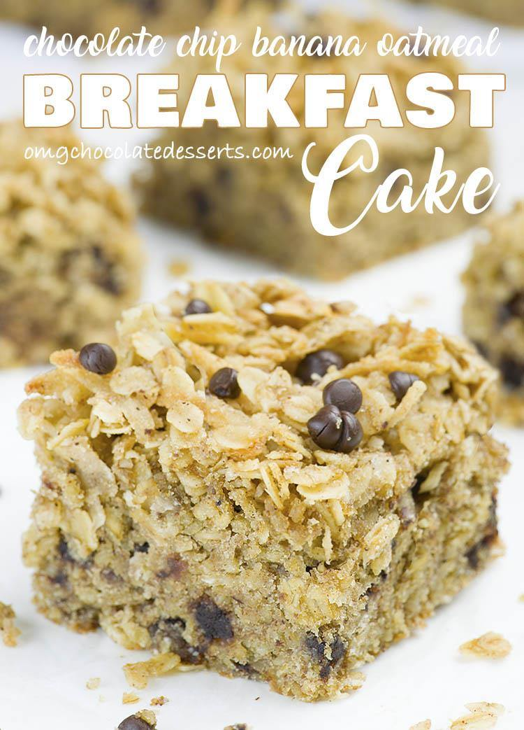 You need a QUICK and EASY BREAKFAST RECIPE to make ahead for busy mornings so you can just grab a piece and eat on the go, or pack a HEALTHY SNACK for your kids?!This easy Banana Oatmeal Breakfast Cake is combo that you are searching for!!!