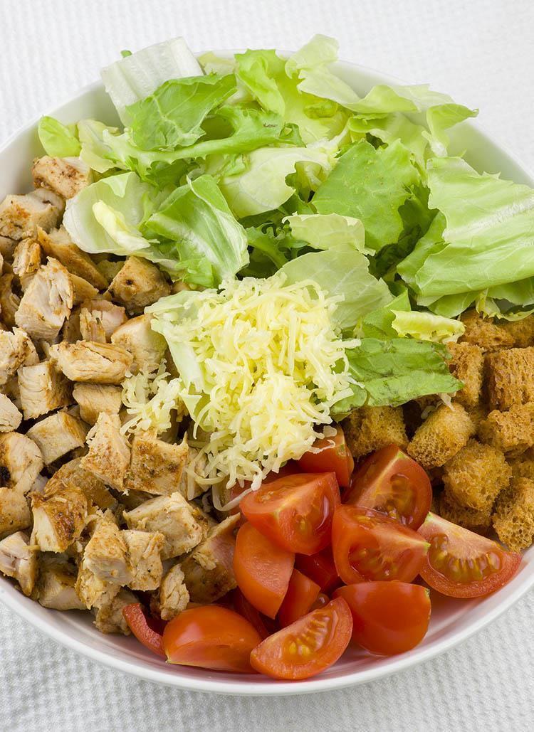Easy Chiecken Caesar Salad Wraps Ingredients