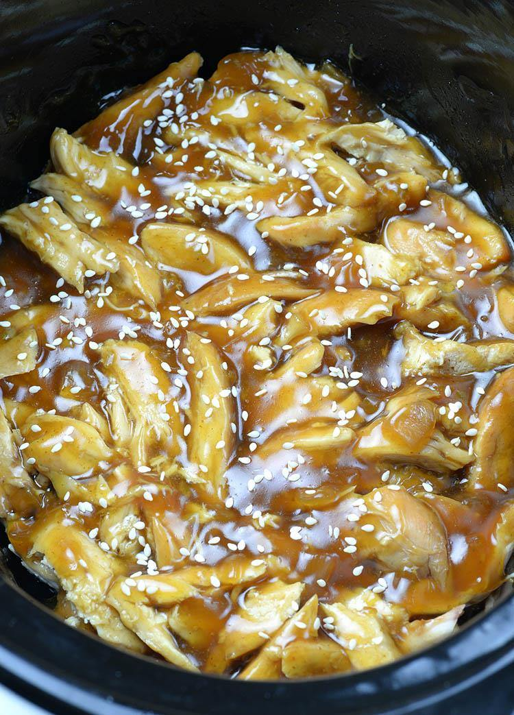 Easy CrockPot Teriyaki Chicken Step 2