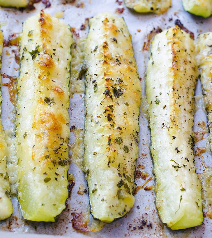 Baked Parmesan Zucchini | Easy Vegetable Side Dish