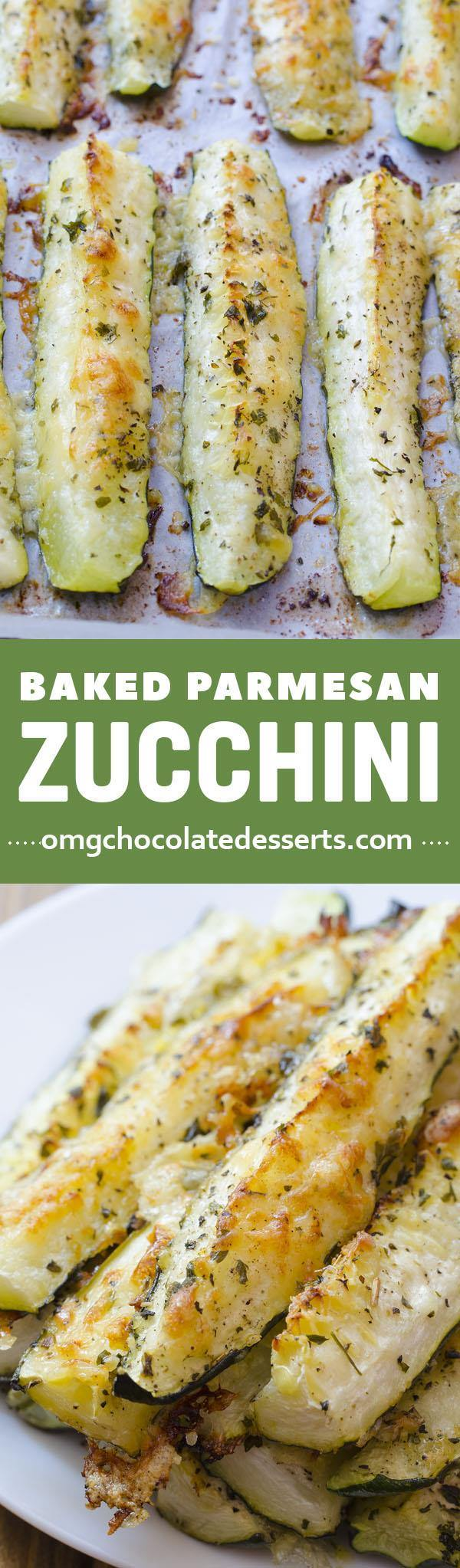 Baked parmesan zucchini omg chocolate desserts baked parmesan zucchini is quick and easy recipe for delicious and healthy weeknight dinner side dish forumfinder Image collections