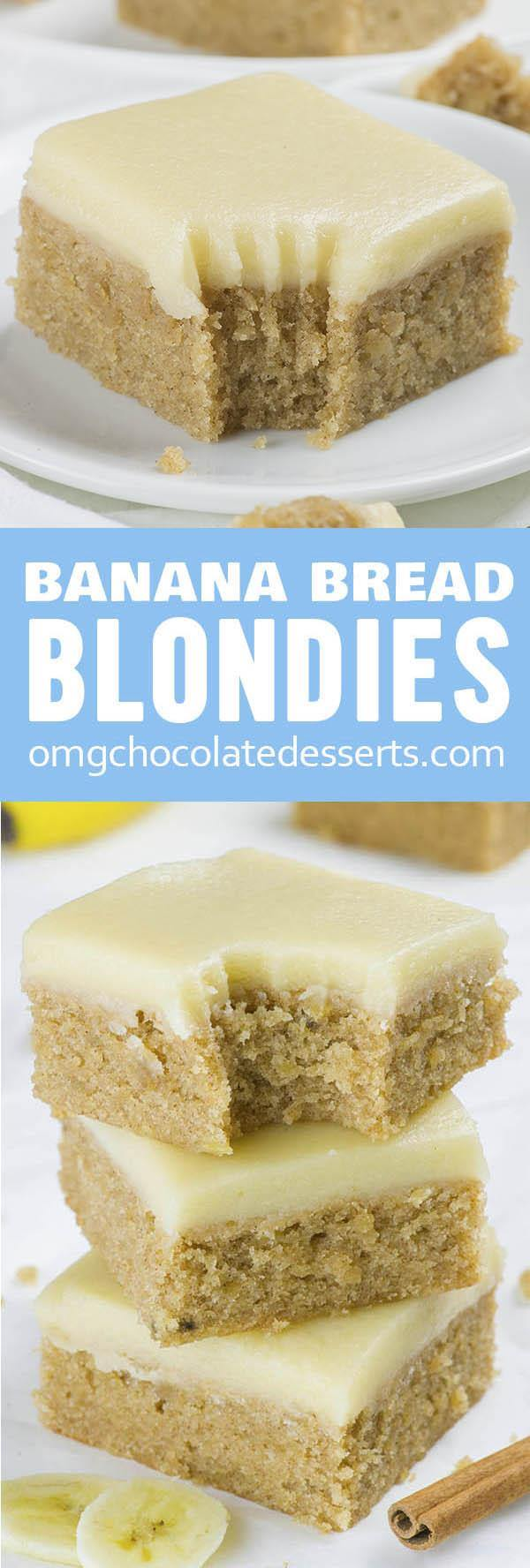 Banana Bread Blondies Omg Chocolate Desserts