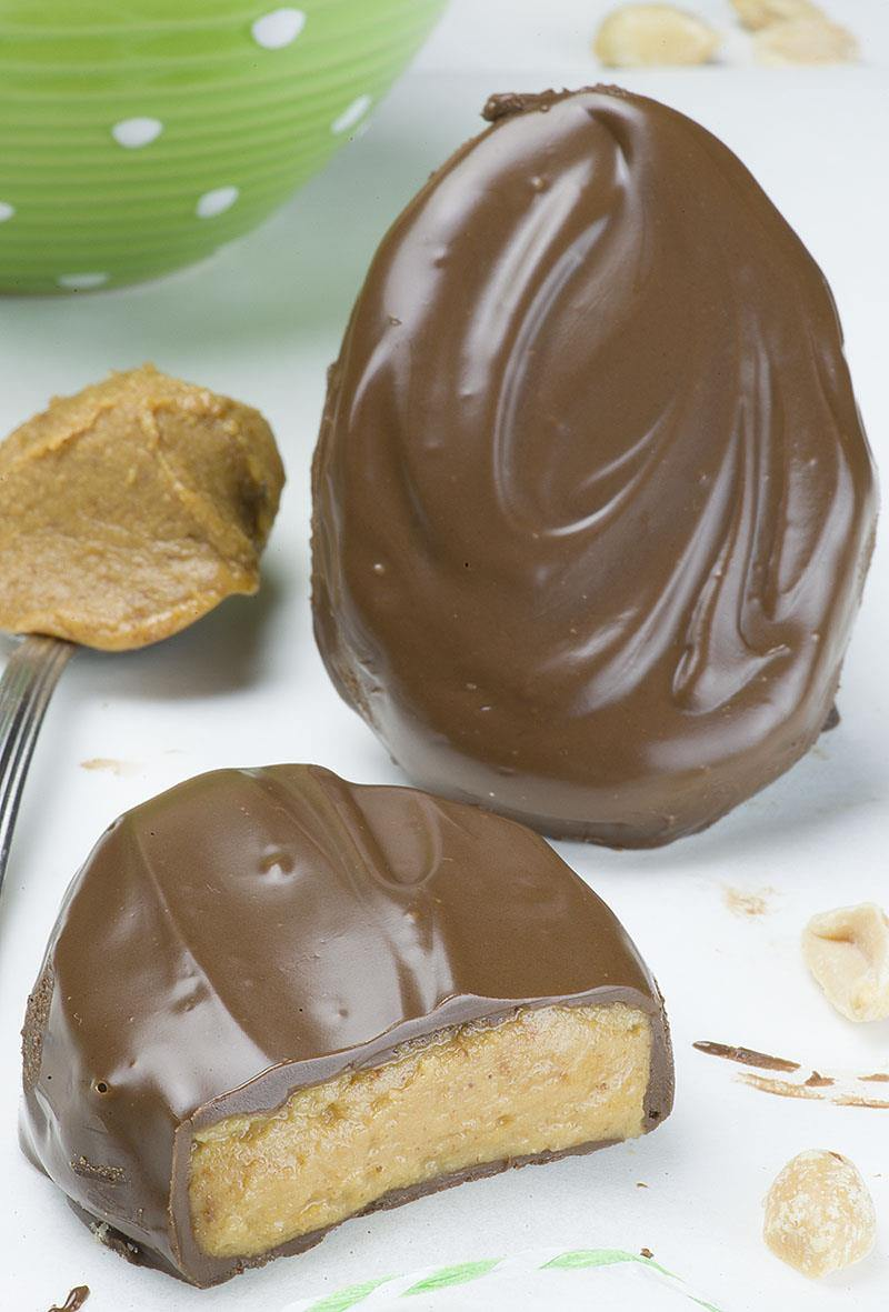 Homemade Reese's Eggs are easy Easter dessert recipe for peanut butter chocolate covered eggs