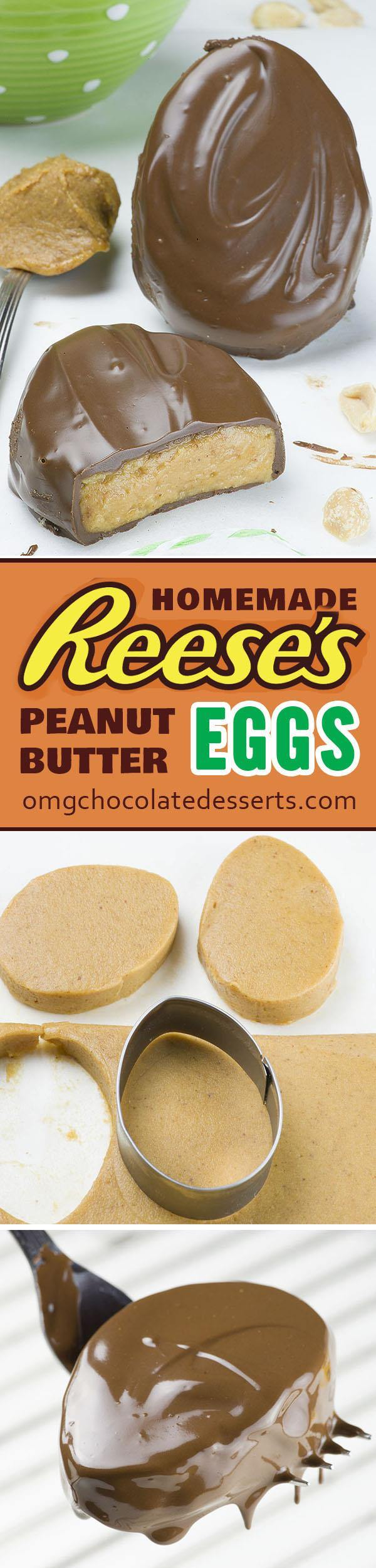 Homemade reese s eggs omg chocolate desserts for Easy sweet treats with peanut butter