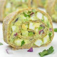 Avocado Egg Salad Roll Ups