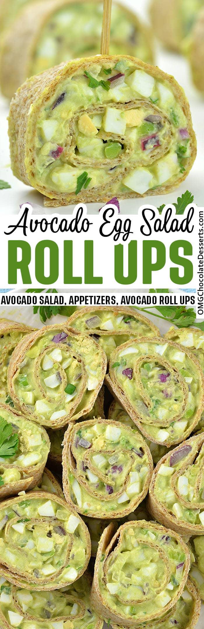 Avocado Egg Salad Roll Ups