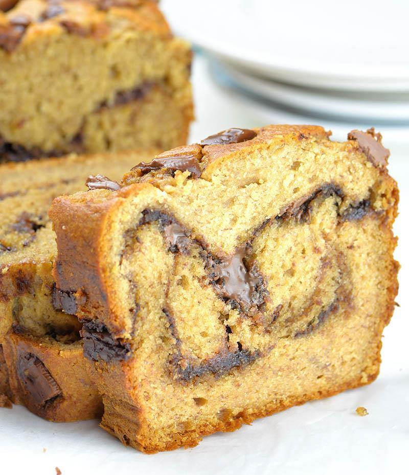 Peanut butter banana bread omg chocolate desserts peanut butter banana bread with nutella swirl a is the best and the yummiest snack or forumfinder Choice Image