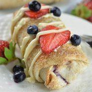 Oven Baked Berry Cheesecake Chimichangas