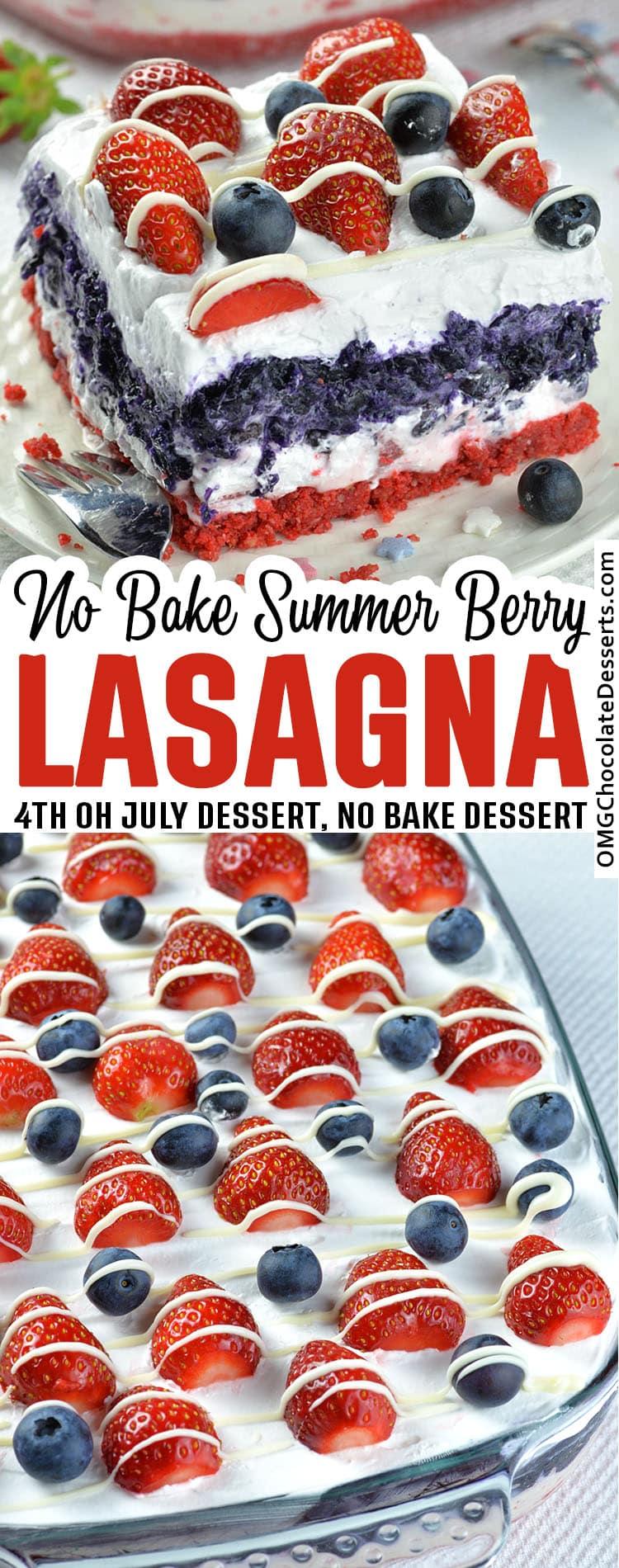 Summer Berry Lasagna