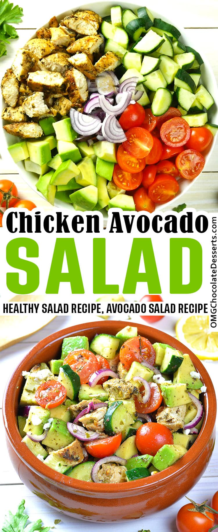 Healthy Chicken and Avocado Salad